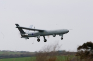 Watchkeeper UAV first flight in UK at MoD Aberporth. 14th April 2010.