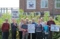 Protest Vigil at UAV Engines, Shenstone