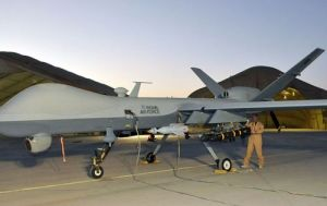 RAF Reaper being readied for a mission in Afghanistan