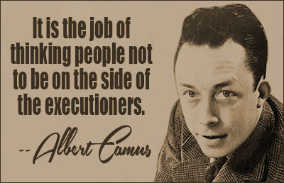 Image result for Reflections on the Guillotine albert camus quote