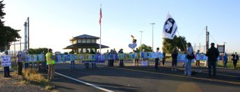 Protesters at Beale AFB May 2015