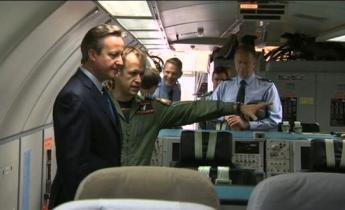 David Cameron visits RAF Waddington and Coningsby - Credit BBC Radio Lincolnshire