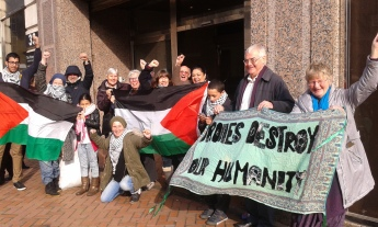 Campaigners celebrate outside court after injunction set aside