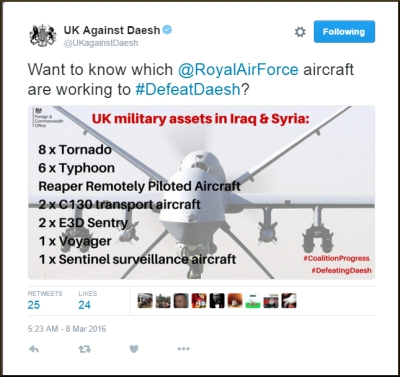 8 March 2016 - FCO - UK Against Daesh -fulltweetb