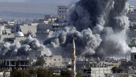Kobani air strike